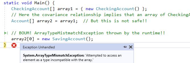 ArrayTypeMistmatchException