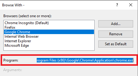 Get the absolute path to chrome.exe