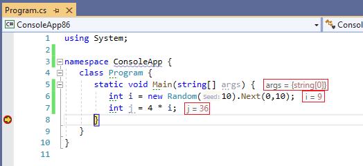 Resharper-Debugger-Info-In-The-Code-Editor
