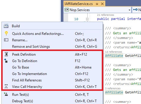 Visual Studio: Navigation Hotkeys