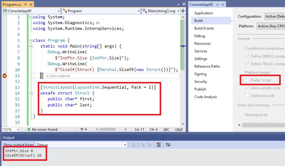 Visual Studio Prefer 32 Bits