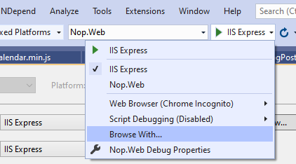 Visual Studio: Browse your WebApplication with