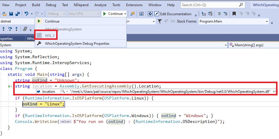 WSL2-Debugging-With-Visual-Studio