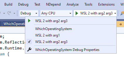 WSL2 Multiple Launch Configurations