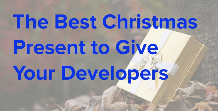 the best christmas present to give your developers