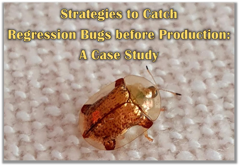 Strategies to Catch Regression Bugs before Production: A Case Study