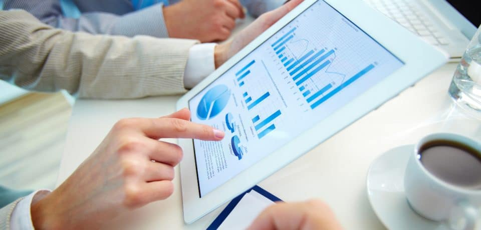 tablet charts stock image