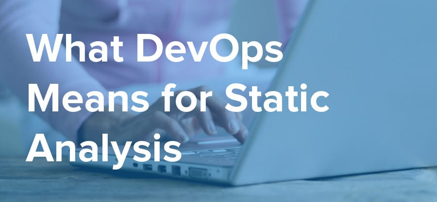 what devops means for static analysis