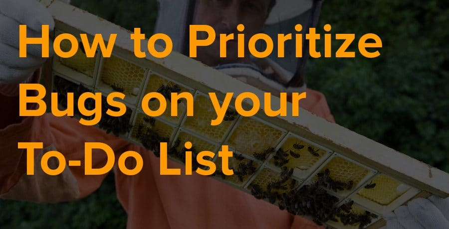 how to prioritize bugs on your todo list