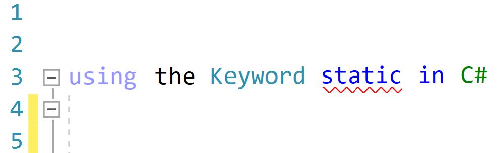 The keyword static in C#
